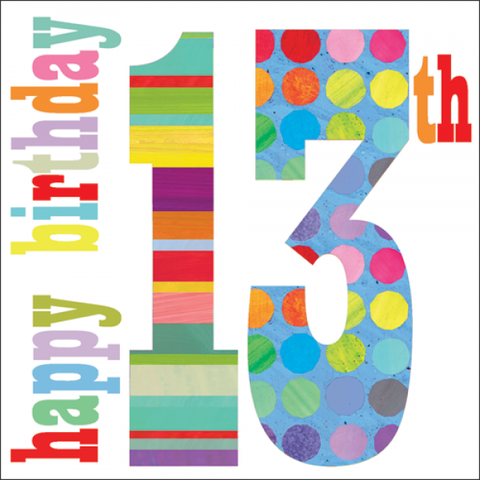Happy,13th,Birthday,Card,buy 13th birthday card online, buy cards for teens online, buy teenager birthday card online, buy girls 13th birthday cards online, age thirteen, birthday cards, buy boys age 13 birthday card online
