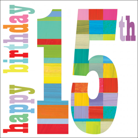 Happy,15th,Birthday,Card,buy 15th birthday card online, buy cards for teens online, buy teenager birthday card online, buy girls 15th birthday cards online, age fourteen, birthday cards, buy boys age 13 birthday card online