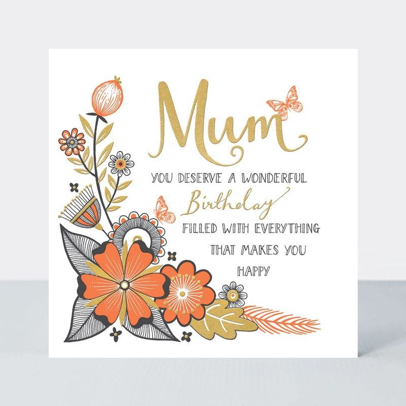 Mum You Deserve A Wonderful Birthday Card - product images  of