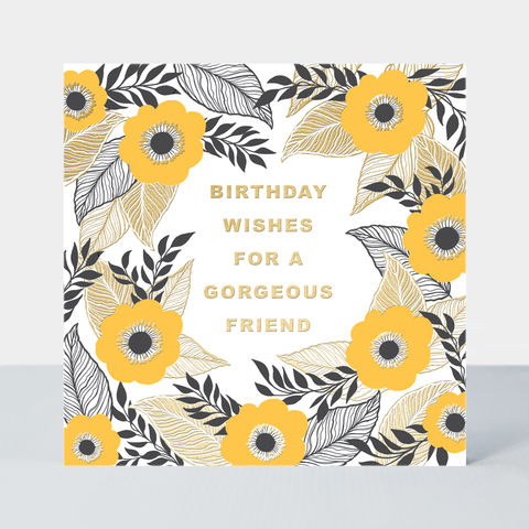Gorgeous,Friend,Floral,Birthday,Card,buy special floral birthday cards For friend online, buy birthday cards with flowers for best friend online, buy female friend birthday cards with flowers gardening online, buy birthday cards for gorgeous friend with flowers, buy mum birthday card, buy th
