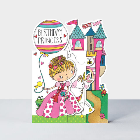 Concertina,Birthday,Princess,Card,buy princess birthday card for little girl online, buy birthday princess birthday cards for girls online, buy pink princess party birthday cards online, buy pink princess and castle cards for girls online, buy unicorn cards for kids online