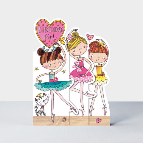 Concertina,Birthday,Girl,Ballerinas,Card,buy ballerina birthday card for little girl online, buy ballet birthday cards for girls online, buy birthday girl birthday cards online, buy pink angelina ballerina for girls online,, buy birthday cards with ballerinas online,