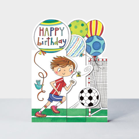 Concertina,Birthday,Boy,Footballer,Card,buy football birthday card for little boy online, buy footballer birthday cards for boys online, buy birthday boy birthday cards online, buy sport football birthday cards for boys online, buy birthday cards football online, buy soccer birthday card online