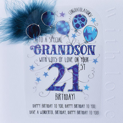 New,In,-,Handmade,Grandson,21st,Birthday,Card,Large,,Luxury,buy grandson 21st birthday card online, buy grandson age twenty one card online, handmade twenty first birthday cards for special grandsons, grandson age 21 card, birthday card for grandson's 21st birthday, eighteenth birthday card, birthday cards for