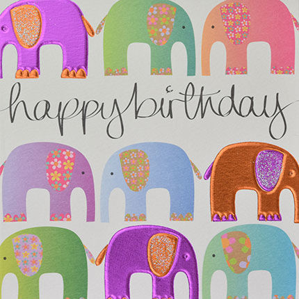 Elephants,Birthday,Card,buy elephants birthday card online, elephant birthday card, birthday card with elephants, birthday card for her, female birthday card, animal birthday card