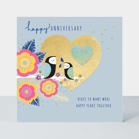 Toucans,Happy,Anniversary,Card,buy bird and flowers pretty wedding anniversary online, pretty anniversary cards with birds flowers floral nature, buy lovebirds heart toucans anniversary cards for special couple online, beautiful wedding anniversary cards for special couple friends fami