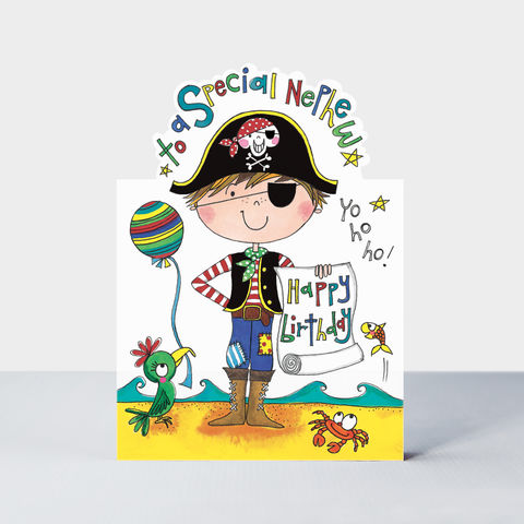 Pirate,Nephew,Happy,Birthday,Card,buy nephew birthday card online, buy birthday cards for nephews from auntie and uncle online, buy pirate birthday cards for nephews online, buy pirate birthday cards for son online, pirate brithday cards for kids, son birthday cards with pirates