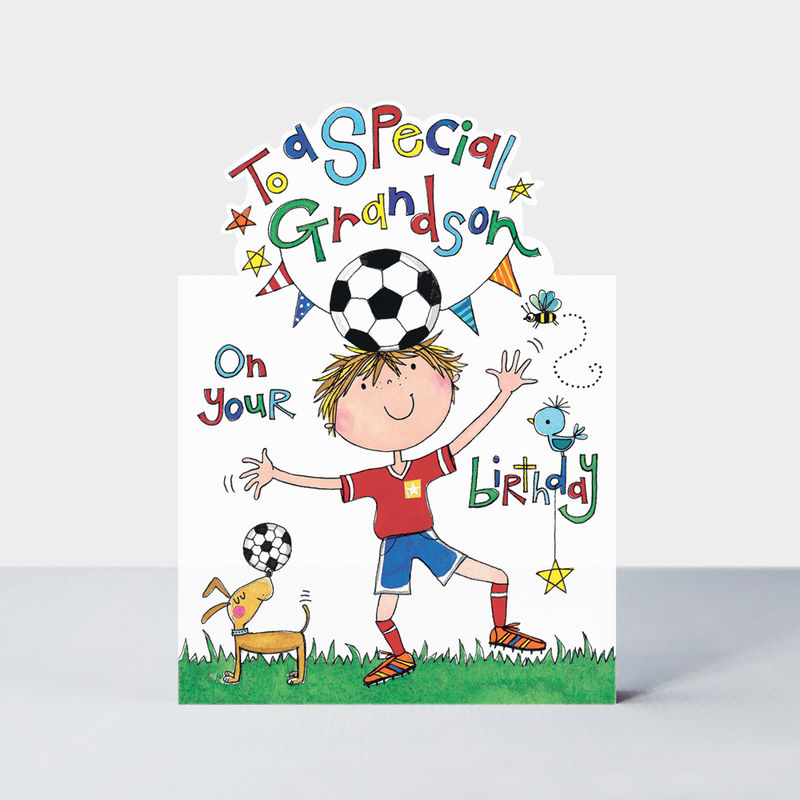 Footballer Grandson Happy Birthday Card - product images  of