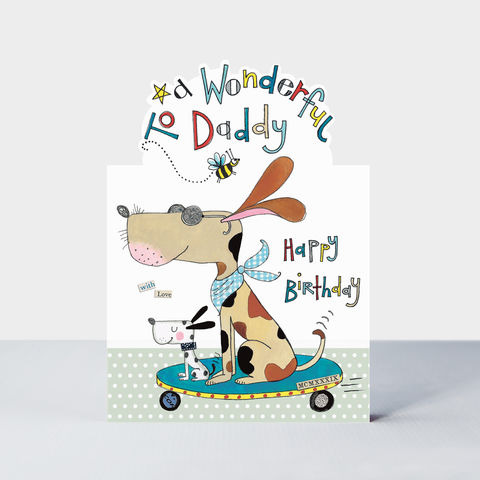 Dogs,Daddy,Happy,Birthday,Card,buy daddy birthday card online, buy birthday cards for daddies from children online, buy dog birthday cards for daddy online, buy dog skateboard birthday cards for dads from son daughter online