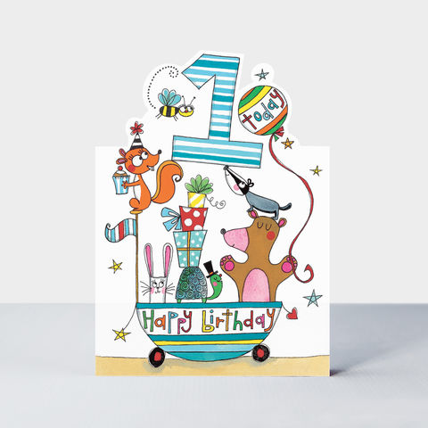 Animals,1,Today,Happy,Birthday,Card,buy baby's 1st birthday card online with animals, buy cute animal age one birthday cards for boys online, buy animals birthday cards age one online, buy 1st birthday cards for child toddler online, animal birthday cards for kids, boys birthday cards for f