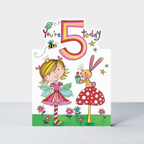 Fairy,5,Today,Happy,Birthday,Card,buy Girls 5th birthday card online, buy flower fairies birthday cards for girls online, buy age 5 birthday cards for girls online, buy 5th birthday cards for girls with fairy  online, boys birthday cards for 5th birthday