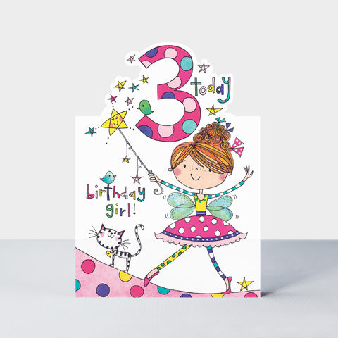 Fairy,3,Today,Happy,Birthday,Card,buy Girls 3rd birthday card online, buy flower fairies birthday cards for girls online, buy age 3 birthday card for girls online, buy 3rd birthday cards for girls with fairy online, fairy birthday cards for girls birthday