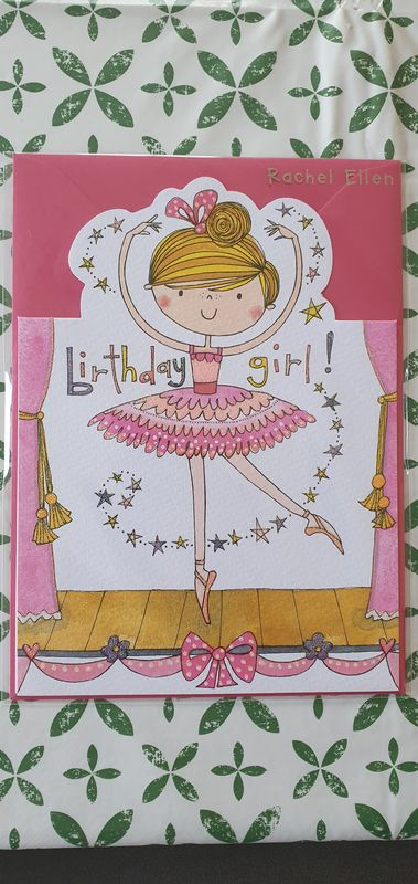 Ballerina Happy Birthday Card - product images  of