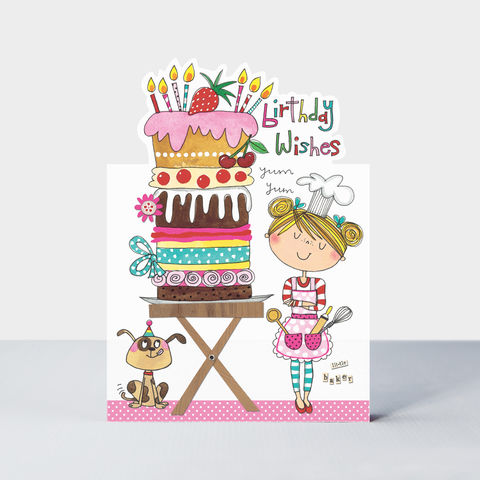Little,Baker,Birthday,Cake,Card,buy Girls baking cooking birthday card online, buy little baker birthday cards for girls online, buy birthday girl card for girls online, buy girls birthday cards with birthday cakes baking with mummy nanny grandma,, star baker little girls birthday card
