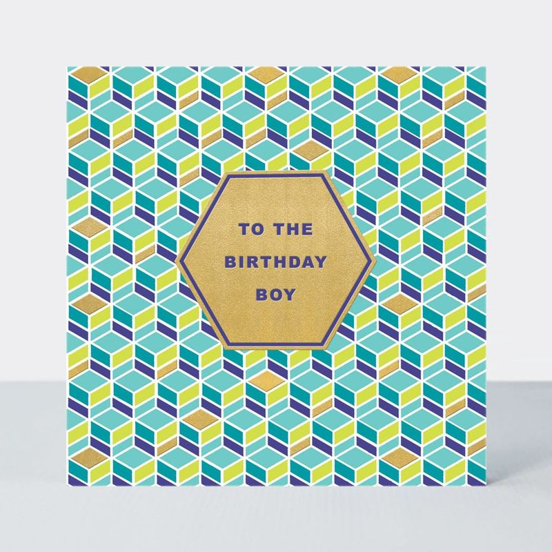 Geometric Birthday Boy Birthday Card - product images  of