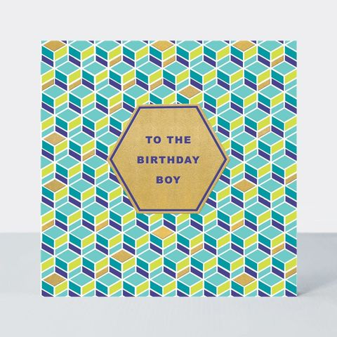 Geometric,Birthday,Boy,Card,buy birthday boy birthday cards online, buy to the birthday boy mens birthday cards online, buy male birthday cards for the birthday boy online, buy birthday cards for him online,
