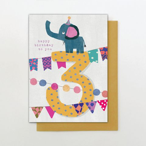 Elephant,3rd,Birthday,Card,buy elephant birthday card online for child, buy childs kids age three birthday card with jungle animals, buy age four animal birthday card for little girl online, kids 4th birthday cards with giraffes, buy cute girls 3rd birthday cards with animals eleph