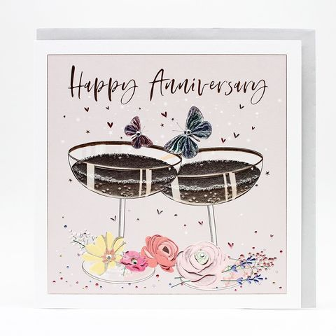 Butterflies,And,Drinks,Happy,Anniversary,Card,-,Large,,Luxurious,Buy belly button designs luxe cards online, buy anniversary cards for lovely couple online,. Buy luxury Mum and dad anniversary card online, buy large beautiful mum and dad wedding anniversary card online from daughter son child children