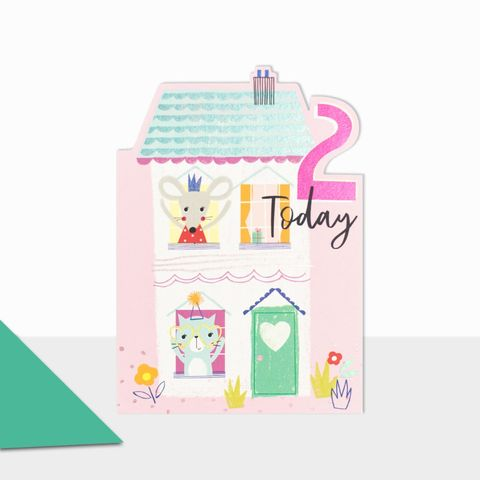 Dolls,House,2,Today,Birthday,Card,buy 2nd birthday cards online, buy age two birthday cards with dolls house  online, buy girls age two birthday card online, buy pretty birthday cards for children online with fruit, girls age ten birthday cards online cute fruits design
