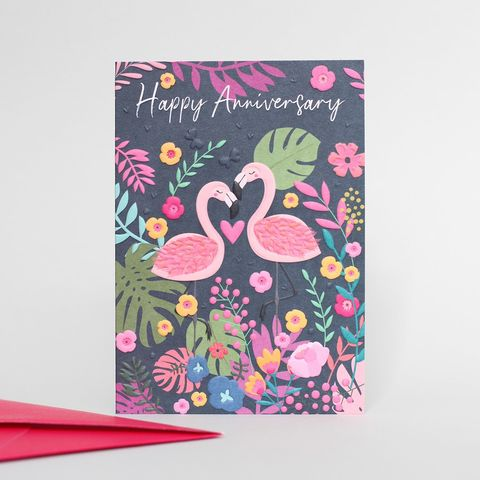 Flamingos,Happy,Anniversary,Card,Buy belly button wild thing cards online, buy anniversary cards for lovely couple online,. Buy flamingo cards online, buy flamingo anniversary cards online, buy pretty wedding anniversary cards with birds flamingos online