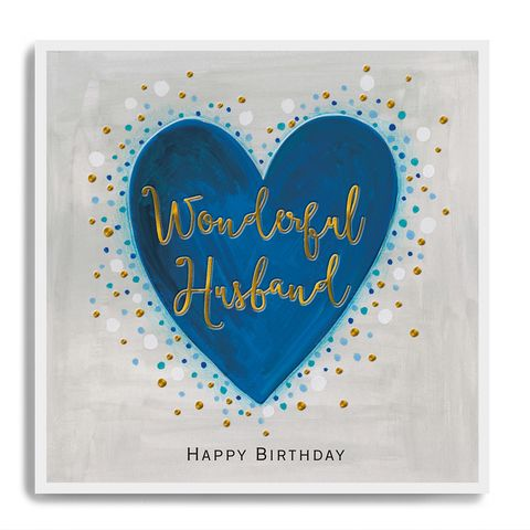 Hand,Finished,Wonderful,Husband,Birthday,Card,buy husband birthday card online, buy luxury birthday cards for husbands online, buy hubby birthday card online, husband birthday cards, buy heart birthday card for wonderful husband online, buy husband birthday cards with hearts heart lovel heart online