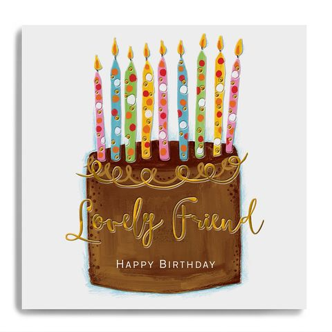 Hand,Finished,Lovely,Friend,Birthday,Card,buy lovely friend birthday card online, buy luxury birthday cards for best friends online, buy friend birthday card online with birthday cake and candles, buy special friend birthday card online from brother sister sibling