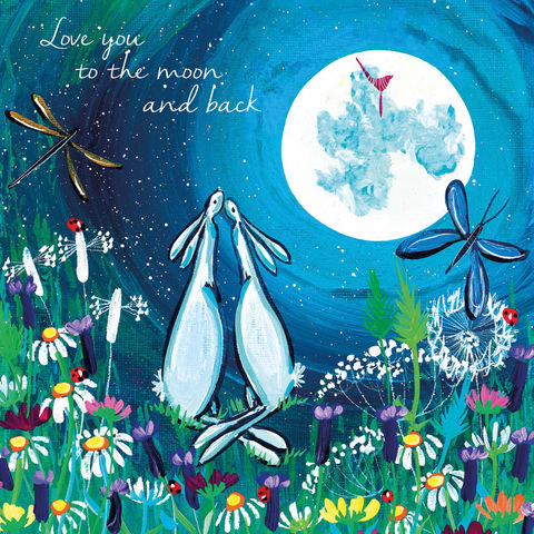 Bunny,Rabbits,Love,You,To,The,Moon,And,Back,Card,-,Kate,Andrew,buy love you to the moon and back cards online, buy anniversary and love cardwith rabbits online, buy anniversary cards online, buy bunny rabbit love cards online, buy love you to the moon and back cards online,