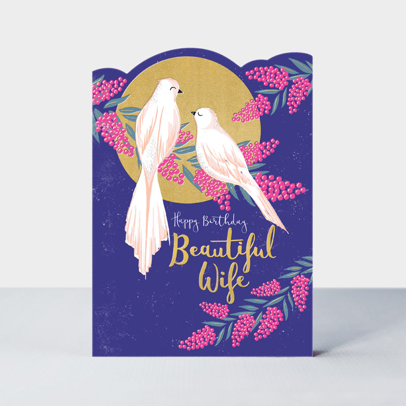 Birds And Blossoms Beautiful Wife Birthday Card - product images