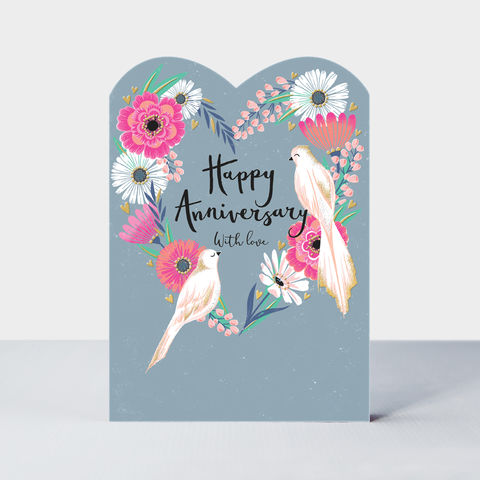 Birds,And,Flowers,Happy,Anniversary,Card,buy Pretty birds and flowers wedding anniversary card online, buy beautiful anniversary cards for wives wife husbands husband online, buy beautiful happy anniversary card online from husband wife, beautiful love birds anniversaries cards online, buy senti