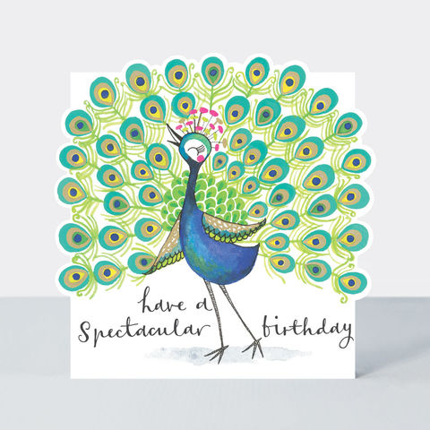 Spectacular,Peacock,Happy,Birthday,Card,buy birthday card for her online, buy girls birthday cards online, buy peacock birthday cards online, buy Rachel Ellen birthday cards online, buy birds  birthday cards online