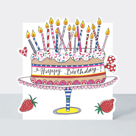 Birthday,Cake,And,Candles,Happy,Card,buy birthday card for her online, buy girls birthday cards online, buy cute birthday cards online, buy Rachel Ellen birthday cards online, buy cake and candles birthday cards online