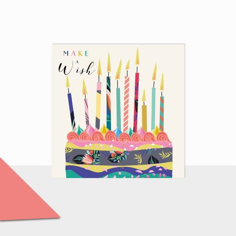 Make,A,Wish,Birthday,Cake,And,Candles,Card,buy birthday cake birthday card online, buy birthday cards for her with birthday cakes, cake and candles birthday cards, pretty floral birthday cards for females, girls birthday card with flowers cake, striped birthday cards for her