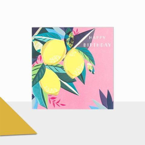 Lemons,Happy,Birthday,Card,buy lemons birthday card online, buy birthday cards for her with lemon plant online, buy lemon birthday card for him her unisex cook gardener, pretty floral birthday cards for females, girls birthday card with flowers cake, striped birthday cards for her