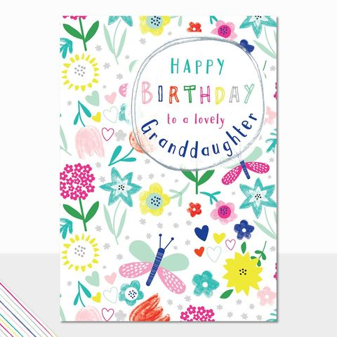 Butterflies,And,Flowers,Granddaughter,Happy,Birthday,Card,buy butterfly birthday cards for granddaughter online, buy birthday cards for granddaughters online, buy pretty birthday card for grand-daughter online, granddaughter cards with flowers, birthday cards for grandchildren, grandchild birthday card