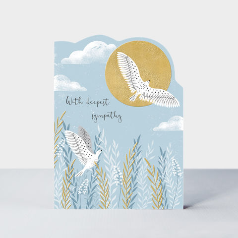 Birds,With,Deepest,Sympathy,Card,buy pretty with sympathy card online, buy deepest condolences card online, buy so sorry for your loss with sympathy card online, buy birds and natur sympathy cards online, buy beautiful with deepest sympathy  online. Buy sentimental thinking of you cards