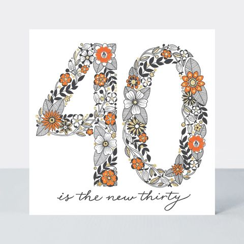 Floral,40th,Birthday,Card,buy special floral 40 today birthday cards online, buy pretty flowers 40th birthday cards online, buy pretty 40 birthday card for her online, buy special fortieth birthday cards for her online