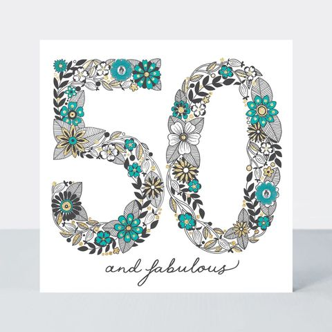 Floral,Fabulous,50th,Birthday,Card,buy special floral 50 today birthday cards online, buy pretty flowers 50th birthday cards online, buy pretty 50 birthday card for her online, buy special fiftieth birthday cards for her online