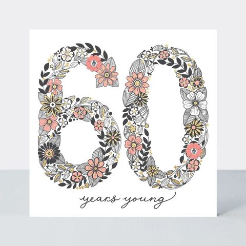 Floral,60th,Birthday,Card,buy special floral 60 today birthday cards online, buy pretty flowers 60th birthday cards online, buy pretty 60 birthday card for her online, buy special sixtieth birthday cards for her online