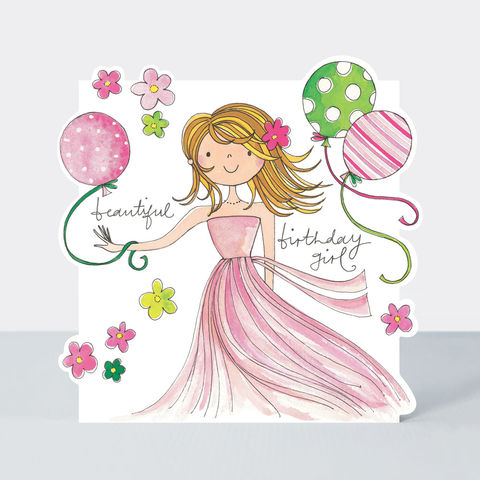 Beautiful,Birthday,Girl,And,Balloons,Happy,Card,buy birthday card for her online, buy birthday girls birthday cards online, buy cute birthday cards online, buy Rachel Ellen birthday cards online, buy teenager birthday card online, buy girl and balloons birthday cards online