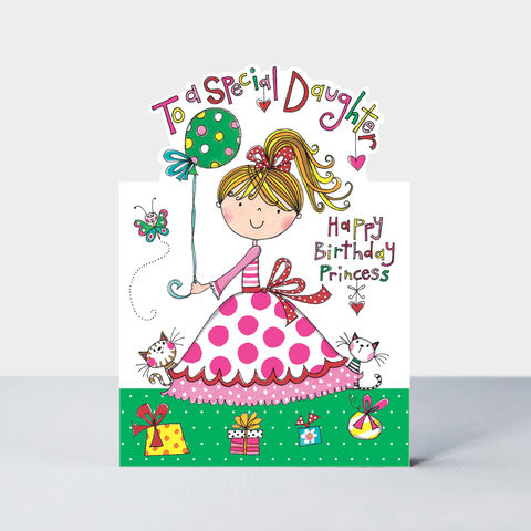 Princess,And,Cats,Special,Daughter,Birthday,Card,buy Little daughter birthday card online, buy cute birthday cards for daughters online, buy princess birthday card for daughter from parents mummy daddy online, princess birthday cards