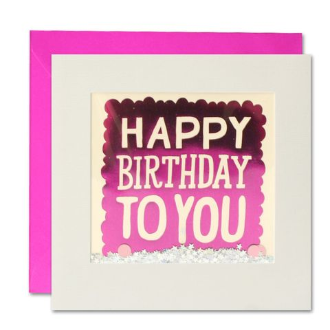Shakies,Happy,Birthday,To,You,Card,buy shakies birthday card online, buy shakies birthday cards for her online, buy female birthday cards online, buy pink happy birthday to you cards online, pink girls birthday cards online, glittery birthday cards, birthday cards for females, birthday car
