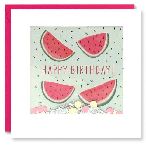 Shakies,Watermelon,Happy,Birthday,Card,buy shakies birthday cards online, buy watermelon birthday cards online, buy cute watermelons cards for her online, buy gender neutral birthday cards online, buy fruits summer birthday cards online, buy pink cute birthday cards for her online, girls