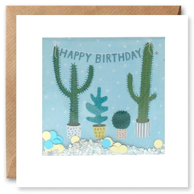 Shakies Cactus Plants Happy Birthday Card - product images