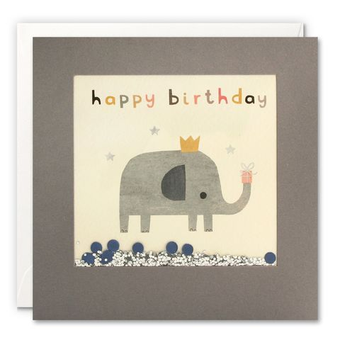 Grey,Shakies,Elephant,and,Present,Happy,Birthday,Card,buy shakies birthday cards online, buy elephant birthday cards online for him her kids child unisex, buy cute animal birthday cards online, buy gender neutral birthday cards online, buy elephant and present birthday cards online, buy pink cute birthday ca