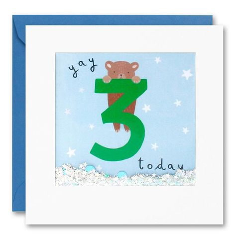 Shakies,Bear,3,Today,Happy,Birthday,Card,buy shakies birthday cards online, buy teddy bear 3rd birthday cards online for kids child boy girl, buy cute animal age three birthday cards online, buy bear third birthday cards online, buy bear 3rd birthday card for boys online