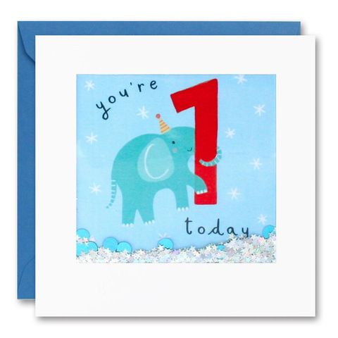 Shakies,Elephant,1,Today,Happy,Birthday,Card,buy shakies birthday cards online, buy babys first birthday cards online for kids child boy girl, buy cute animal age one birthday cards online, buy elephant 1st birthday cards online, buy elephant age one birthday card for boys online