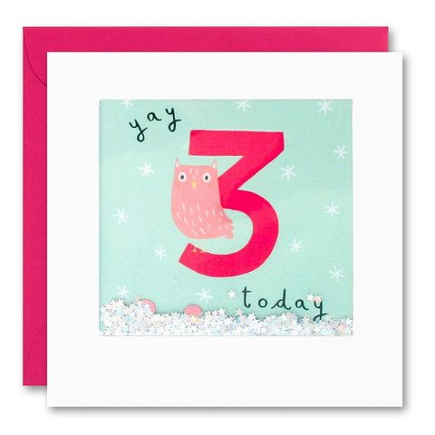 Shakies,Owl,3,Today,Happy,Birthday,Card,buy shakies birthday cards online, buy pink owl 3rd birthday cards online for kids child boy girl, buy cute animal age three birthday cards online, buy owl third birthday cards online, buy owl bird 3rd birthday card for boys online