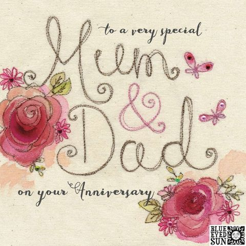 Floral,Very,Special,Mum,And,Dad,Wedding,Anniversary,Card,buy pretty wedding anniversary card for special mum and dad online, buy mum and dad anniversary cards with flowers online, buy pretty pink anniversary cards for special parents online from daughter son child children, buy pretty pink shabby chic anniversa