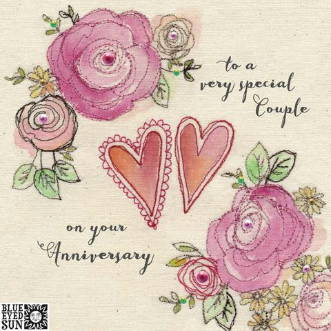 Floral,To,A,Very,Special,Couple,On,Your,Wedding,Anniversary,Card,buy pretty wedding anniversary card for a very special couple online, buy special couple anniversary cards with flowers online, buy pretty pink anniversary cards for special couple friends online, buy pretty pink shabby chic wedding anniversary cards onli