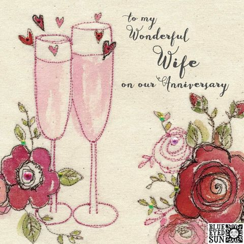 To,My,Wonderful,Wife,On,Our,Wedding,Anniversary,Card,buy pretty wedding anniversary card for a wonderful wife online, buy special anniversary cards for wives online from husband from wife, buy champagne fizz bubbles hearts and roses happy anniversary cards for my special wife online, buy pretty pink wife we